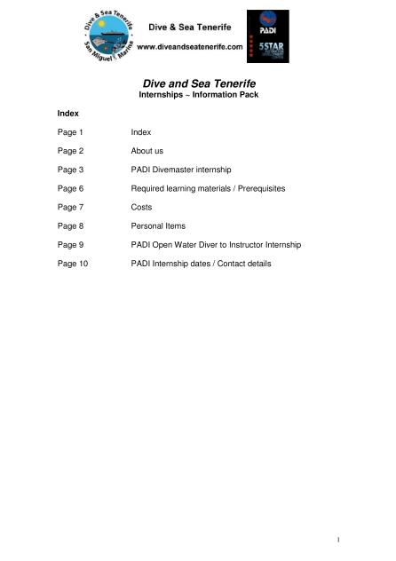 Internship info 1