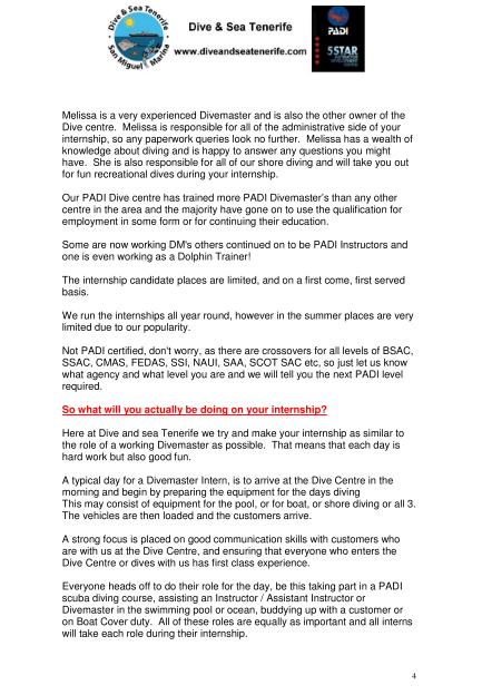 PADI Divemaster Internship info 4