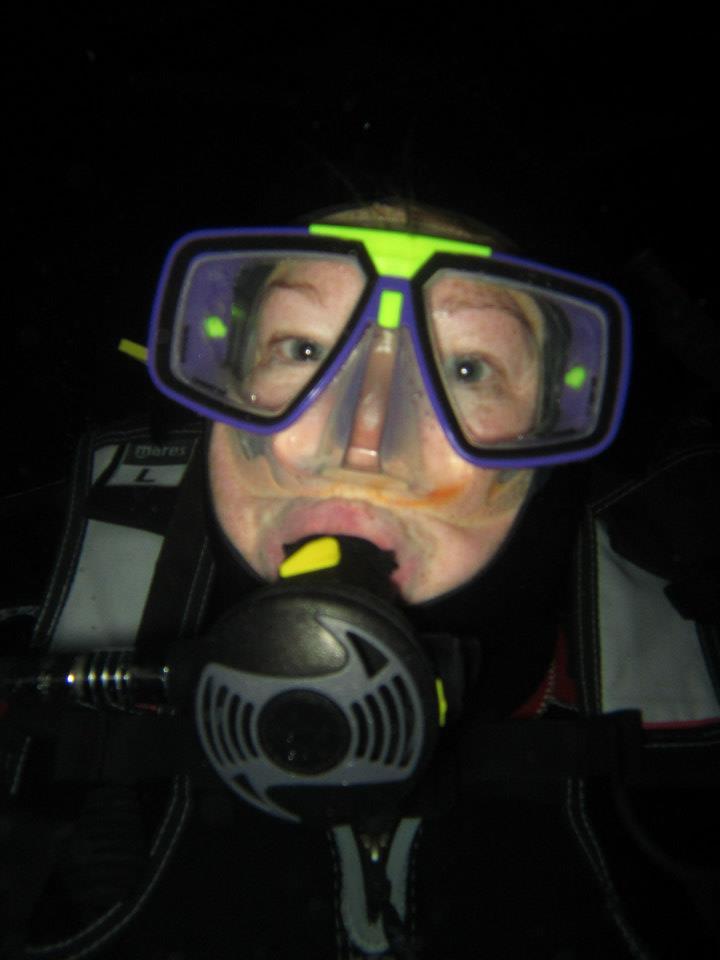 Night Diving on internship